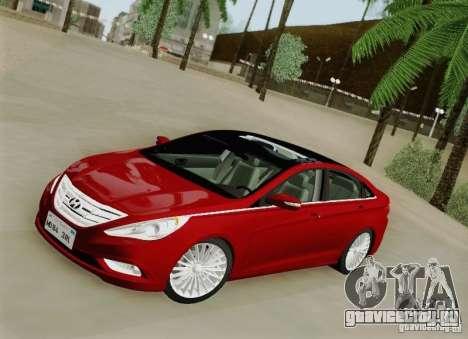 Hyundai Sonata 2012 для GTA San Andreas вид сбоку