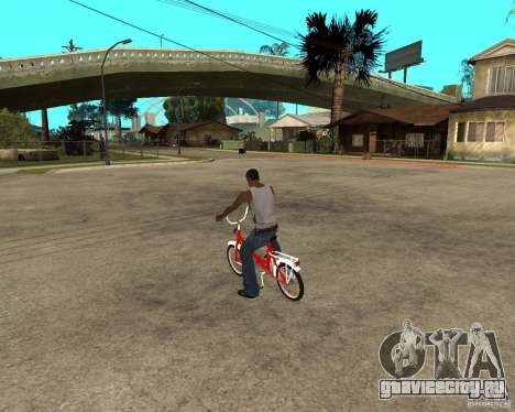 Велосипед GTA SA Tair Bike для GTA San Andreas вид слева