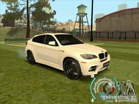 BMW X6 M Hamann Design для GTA San Andreas вид справа
