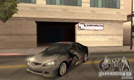 Acura RSX New для GTA San Andreas вид сверху
