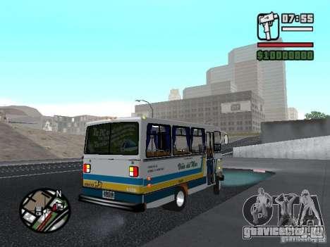 Cuatro Ases M.Benz LO608D для GTA San Andreas вид сзади