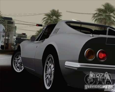 Ferrari 246 Dino GTS для GTA San Andreas вид снизу
