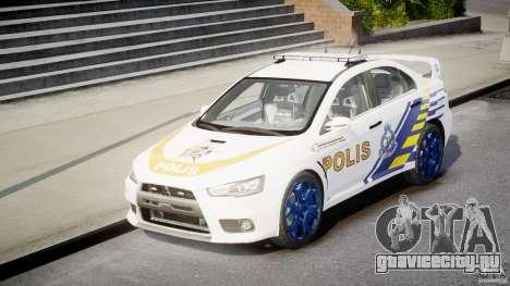 Mitsubishi Evolution X Police Car [ELS] для GTA 4 вид сзади