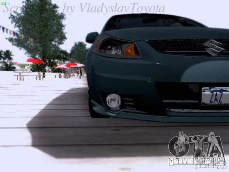Suzuki SX4 Sportback 2011 для GTA San Andreas вид изнутри