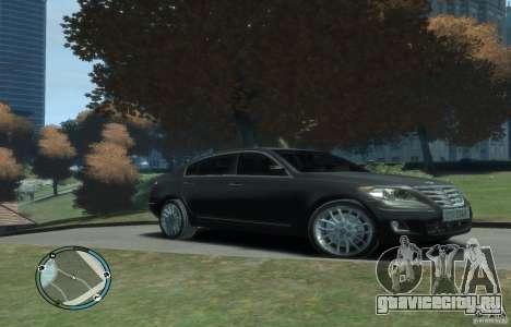 Hyundai Genesis Sedan Elite для GTA 4 вид сзади слева