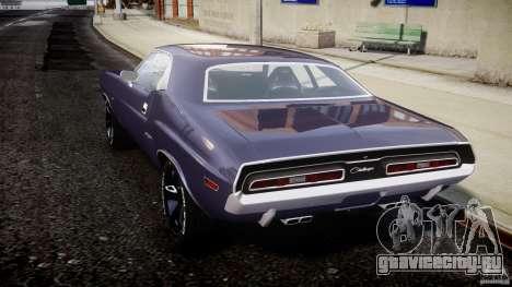 Dodge Challenger 1971 для GTA 4 вид сзади слева