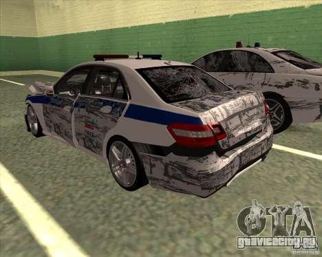 Mercedes-Benz E63 AMG W212 для GTA San Andreas вид снизу