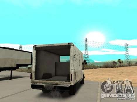 New Benson для GTA San Andreas вид сзади слева