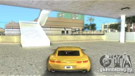 Chevrolet Camaro для GTA Vice City вид сзади слева