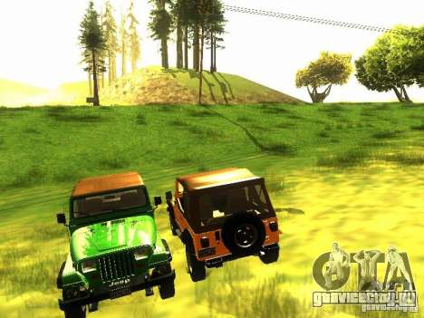 Jeep Wrangler Convertible для GTA San Andreas вид изнутри