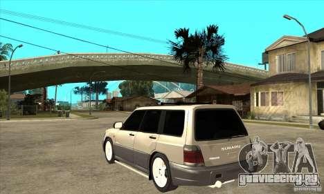 Subaru Forester 1997 года для GTA San Andreas вид сзади слева