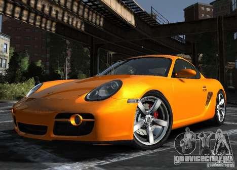 Porsche Cayman S1 для GTA 4 вид слева