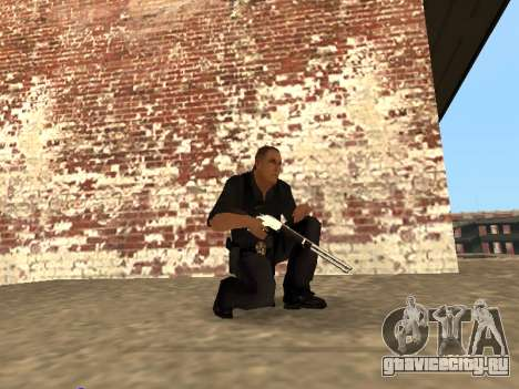 Chrome and Blue Weapons Pack для GTA San Andreas пятый скриншот
