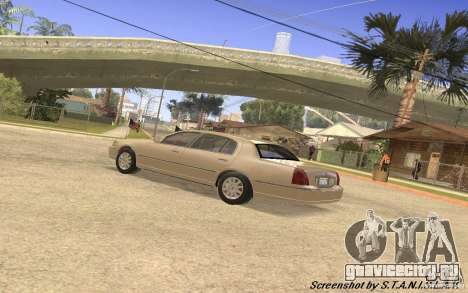 Lincoln Towncar Secret Service для GTA San Andreas вид изнутри