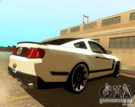 Ford Mustang Boss 302 2011 для GTA San Andreas вид сзади слева