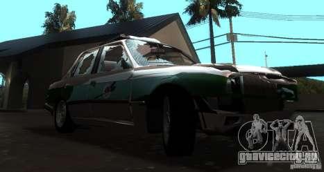 BMW E30 Sedan Police для GTA San Andreas вид сзади