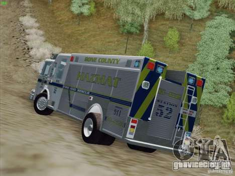 Pierce Fire Rescues. Bone County Hazmat для GTA San Andreas вид изнутри