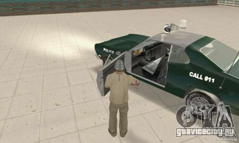 Plymouth Duster 340 Police для GTA San Andreas вид сзади