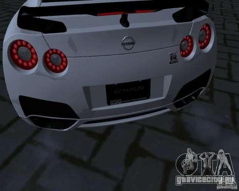 Nissan GTR-35 Spec-V для GTA San Andreas вид изнутри