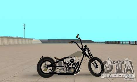 HD Shovelhead Chopper v2.1-хромовый для GTA San Andreas