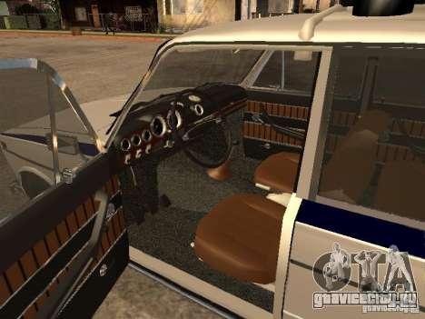 Ваз 2103 Милиция для GTA San Andreas вид сзади слева