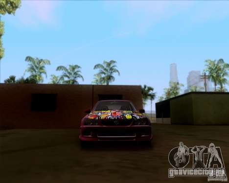 Lexus IS300 Hella Flush для GTA San Andreas вид сверху