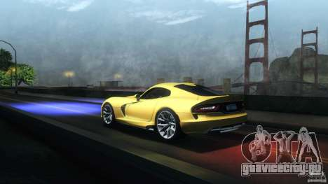 Dodge SRT Viper GTS 2012 V1.0 для GTA San Andreas вид сбоку