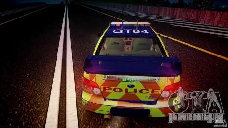 Subaru Impreza WRX Police [ELS] для GTA 4 вид сверху
