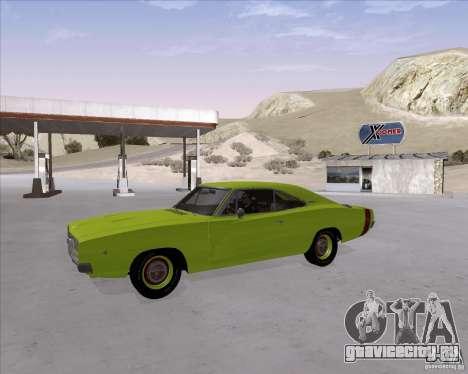 Dodge Charger RT 440 1968 для GTA San Andreas вид изнутри