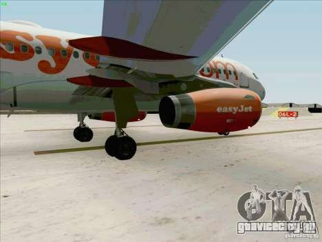 Airbus A319 Easyjet для GTA San Andreas вид изнутри