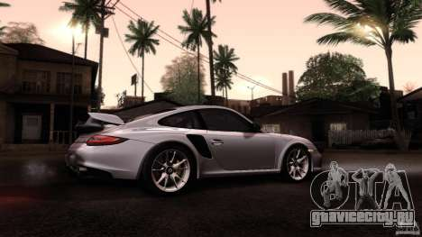 Porsche 911 GT2 RS 2012 для GTA San Andreas вид изнутри