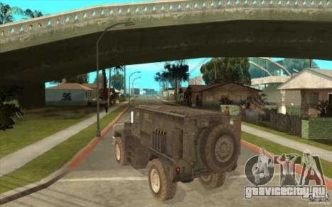 Military Truck для GTA San Andreas вид справа