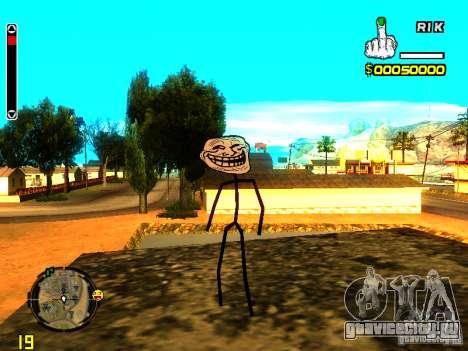 TrollFace skin для GTA San Andreas второй скриншот
