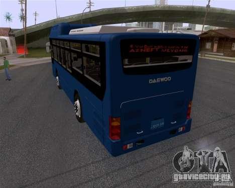 Daewoo Bus BAKU для GTA San Andreas вид слева