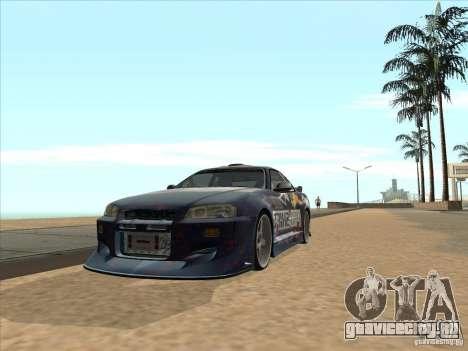 Nissan Skyline R34 VeilSide для GTA San Andreas вид справа