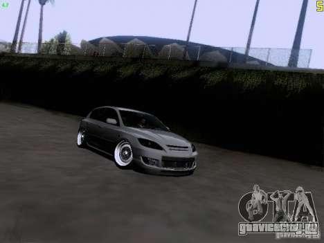 Mazda Speed 3 Stance для GTA San Andreas вид сзади