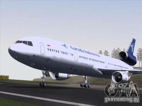 McDonnell Douglas MD-11 Garuda Indonesia для GTA San Andreas вид изнутри