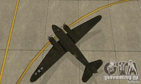 C-47 Skytrain для GTA San Andreas вид сзади