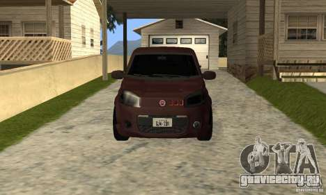 Fiat Novo Uno Sporting для GTA San Andreas вид слева