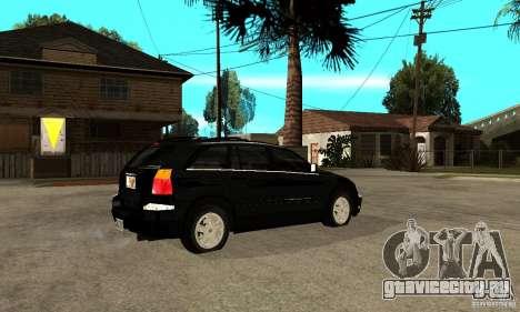 Chrysler Pacifica для GTA San Andreas вид справа