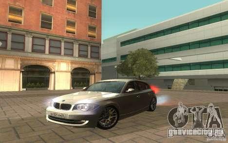BMW 120i для GTA San Andreas вид справа