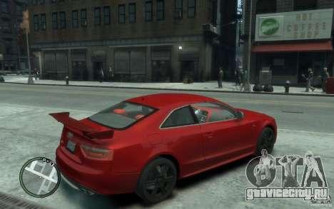 Audi S5 v2 для GTA 4 вид справа