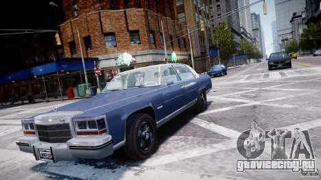 Cadillac Fleetwood Brougham 1985 для GTA 4 вид сзади