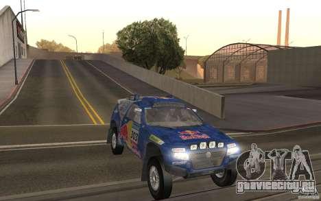 Volkswagen Race Touareg для GTA San Andreas вид сзади