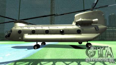CH-47 для GTA 4 вид сзади слева