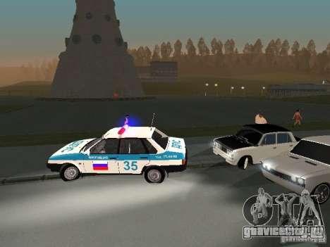 Ваз 2101 White Kids для GTA San Andreas вид изнутри