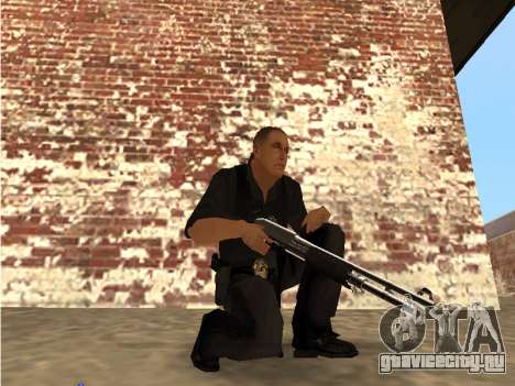 Chrome and Blue Weapons Pack для GTA San Andreas второй скриншот