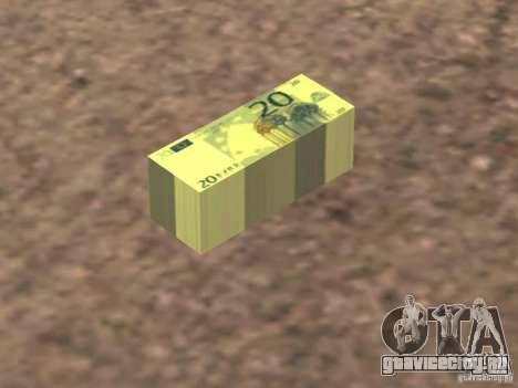 Euro money mod v 1.5 20 euros II для GTA San Andreas