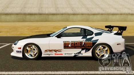 Toyota Supra Top Secret для GTA 4 вид слева