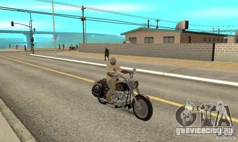 Harley Davidson FLSTF (Fat Boy) v2.0 Skin 5 для GTA San Andreas вид справа